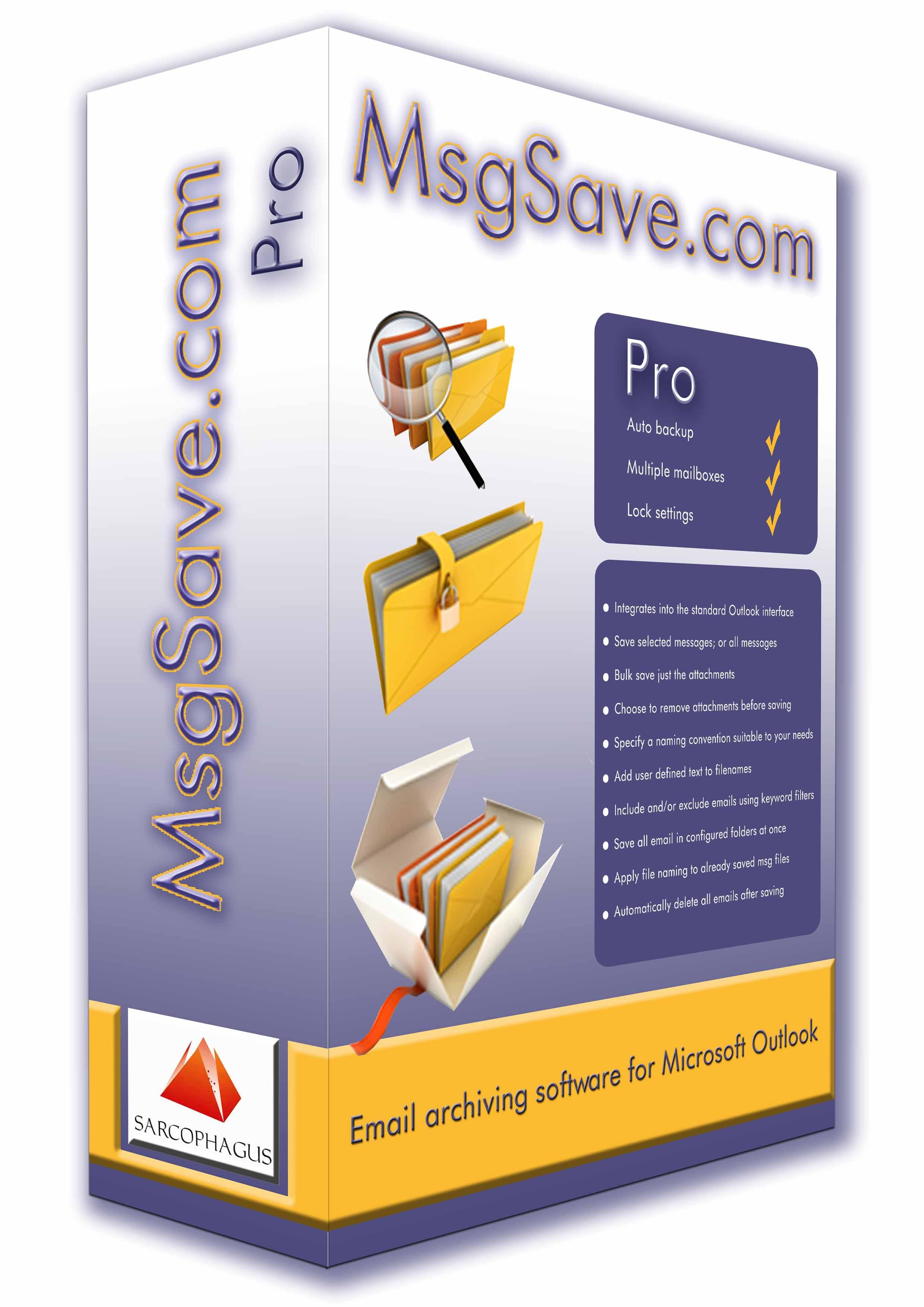 MsgSave - Backup Outlook Emails